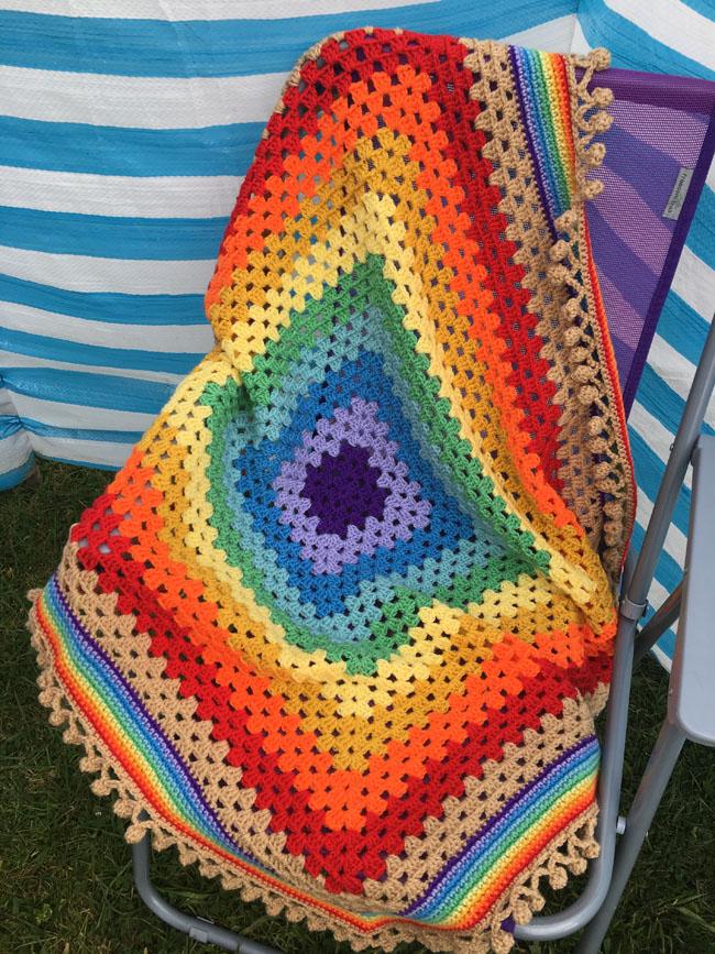 Rainbow Granny Square Blanket Lovecrochet
