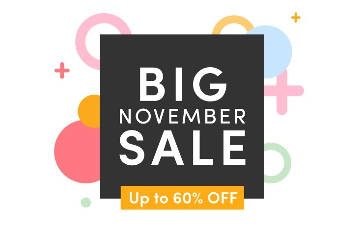 Up to 60% off in the November Sale!