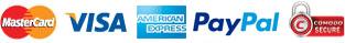 MasterCard Amex VISA PayPal Comodo
