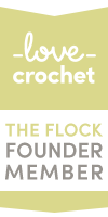 The Flock LoveCrochet Founder Member Badge
