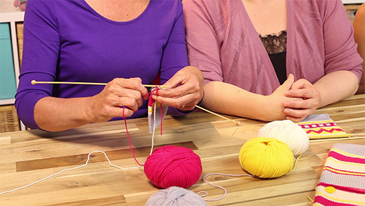 How to knit the weaving method for Fair Isle | LoveKnitting
